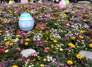 イースターエッグとお花
